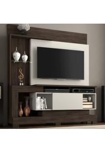 Estante Para Tv Até 50 Poelgadas 1 Porta Nt 1060 Malbec Trend/Off White - Notável