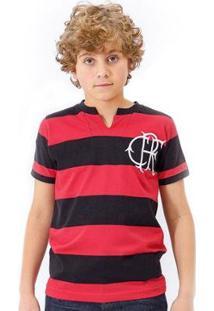 Camisa Flamengo Infantil Retrô Tri Carioca Masculina - Masculino-Preto+Vermelho