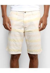 Bermuda Aleatory Bolso Faca Masculina - Masculino-Amarelo