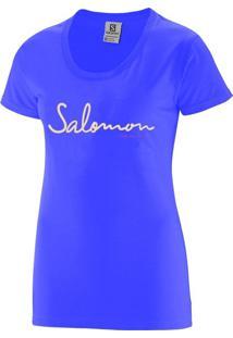 Camiseta Salomon Time To Play Tee Feminino M Violeta