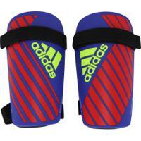 d888f2f478 Caneleira De Futebol Adidas X Lite - Adulto - Azul Vermelho