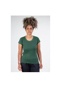 Camiseta Meio Swag Básica Gola Redonda Verde