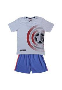 Pijama Juvenil Evanilda Capitão América