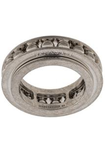 Balenciaga Gear Sphere Embellished Ring - Prateado