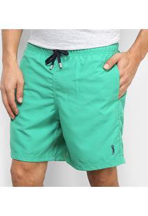 Bermuda Aleatory Microfibra Colors Masculina - Masculino-Verde