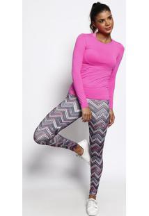 Blusa Lisa - Rosa & Dourada - Physical Fitnessphysical Fitness