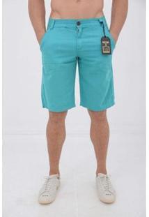 Bermuda Sarja Delmont Store Casual Masculina - Masculino-Azul Claro