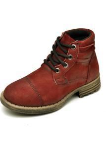 Bota Couro Dr Shoes Recortes Bordã´ - Bordã´ - Masculino - Dafiti