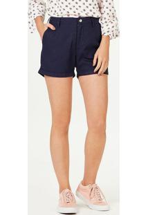 Shorts Básico Feminino Em Linho