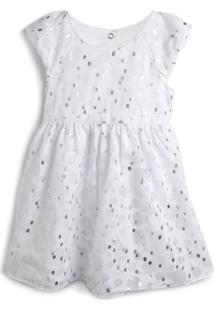 Vestido Milon Poás/Bolinhas Branco