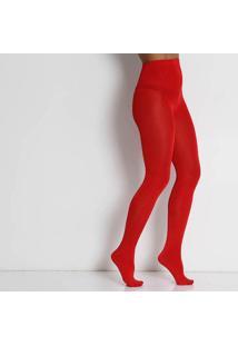 Meia Calça Shine Fio 110 Feminina Loba - Vermelho