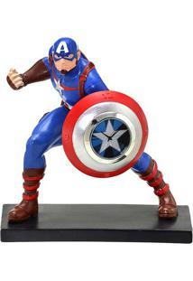 Relógio De Mesa Analógico Capitão América® - Azul Escuromabruk