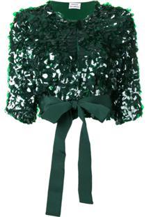 P.A.R.O.S.H. Jaqueta Glen Cropped - Verde