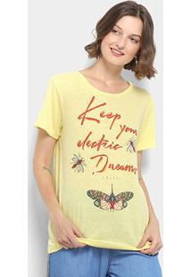Camiseta Keep Your Eletric Dream Colcci Feminina - Feminino