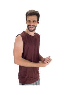Camiseta Regata Oxer Básica Mescla - Masculina - Vermelho Mescla