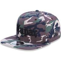 a0be5c164c Boné 950 Of Tupac Tipo Camo Aba Reta Snapback New Era - Masculino-Verde  Militar