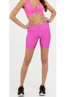 Bermuda Feminina Fitness Neon Metalizada Marisa