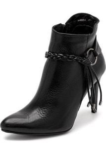 Bota Sandalo Clave De Fa Elis Black Feminina - Feminino-Preto