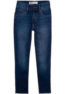 Calça Jeans Levis 511 Slim Infantil - Masculino-Marinho