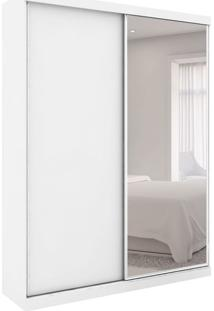 Guarda-Roupa Closet Modulado Virtual Ii Com Espelho 2 Pt 6 Gv Branco Fosco E Amadeirado