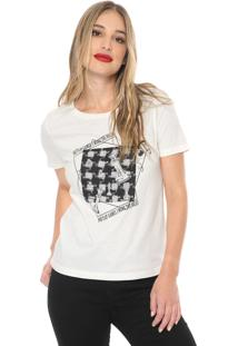Camiseta Carmim Make The Rules Off-White