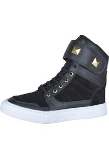 Sneaker Fitness Cheia De Marra 1003 Preto