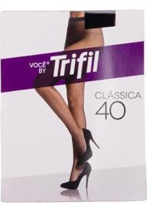 Meia Calça Arrastão - Trifil - Feminino-Preto