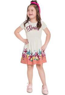 Vestido Infantil Menina Natural
