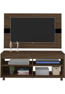 Rack Com Painel Para Tv Artely Cross