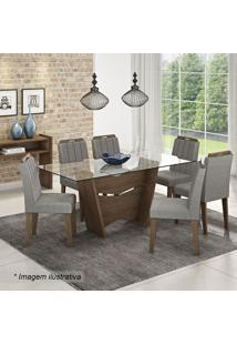 Conjunto De Mesa & Cadeiras Vitória- Marrocos & Platina
