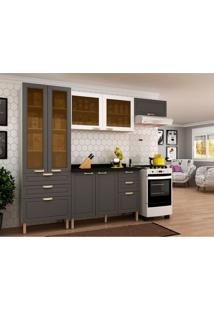 Cozinha Compacta Nevada Ii 7 Pt 6 Gv Grafite E Branca