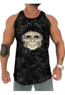 Regata Longline Mxd Old Skull Masculina - Masculino