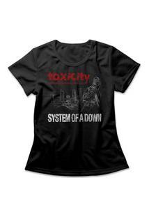 Camiseta Feminina System Of A Down Toxicity Preto