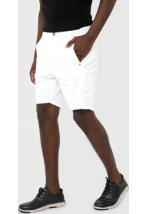 Bermuda Sarja Ellus Reta Twill Color Branca