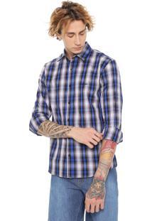 Camisa John John Reta Steve Azul/Cinza