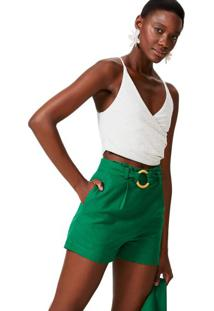 Shorts Clochard Viscose Com Cinto