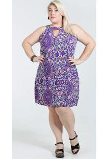 Vestido Feminino Plus Size Flor Marisa