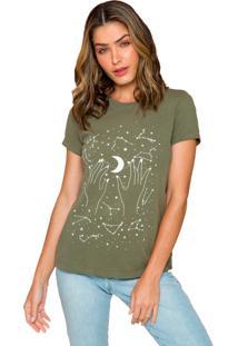 T-Shirt Sislla Cosmos Verde