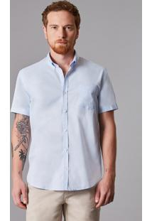 Camisa Mc Oxford Pima Leve Reserva Azul