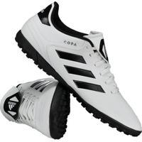 6c214389cc Chuteira Adidas Copa 18.4 Tf Society Branca