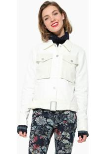 Jaqueta Desigual Bolsos Branca