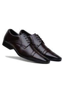 Sapato Social Masculino Confortável Macio - Café