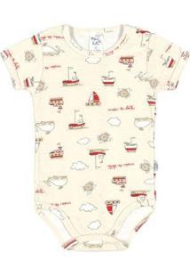 Body Bebê Menino Ribana - Masculino-Bege