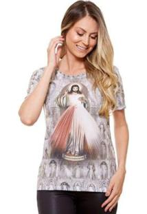 Baby Look Ágape Jesus Misericordioso Feminina - Feminino