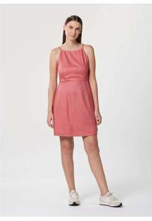 Vestido Básico Alças Finas Rosa