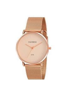 Relógio Feminino Analógico Rosé Mondaine - 76778Lpmvre2 Rosa