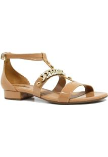 Sandália Zariff Shoes Rasteira Metais Fivela - Feminino