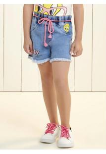 Shorts Piu Piu Azul