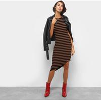7d85e17ad Vestido Colcci Assimétrico Curto Listrado Com Lurex - Feminino-Preto