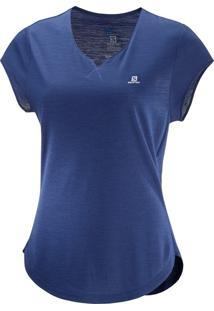 Camiseta Salomon X Ss Feminino Gg Violeta